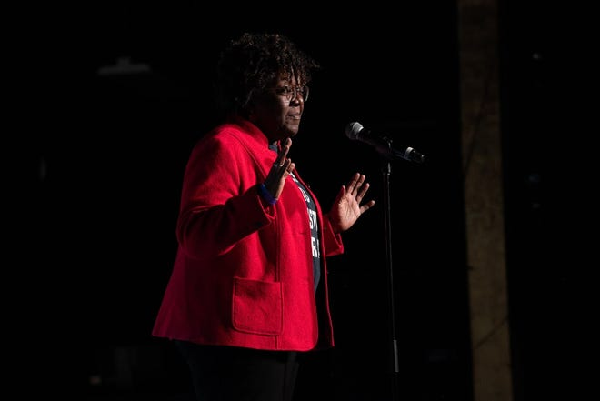 Kate Smith shares a story at the Arizona Storytellers Project show on Jan. 14, 2020. A virtual show is planned June 30 to benefit Local First Arizona and will feature five Tucson, Arizona, business owners.
