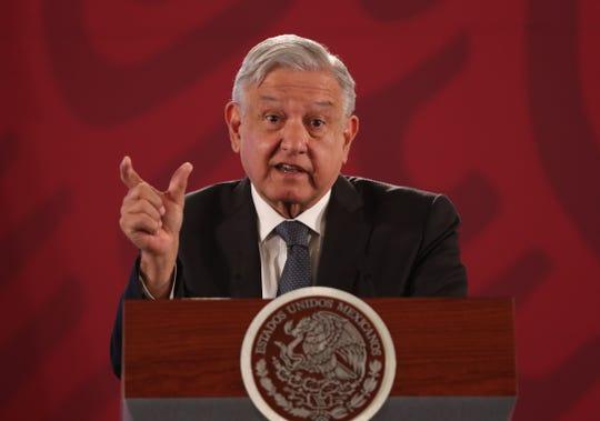 El presidente de México, Andrés Manuel López Obrador, ofrece una rueda de prensa matutina este viernes, en el Palacio Nacional de Ciudad de México (México).