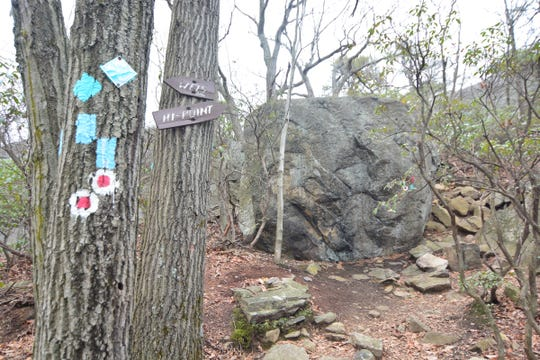 The markings along the trail before the climb to the high point can be confusing.