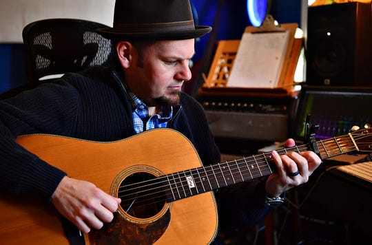 Bluegrass musician Troy Engle during an interview in his studio at his home in Glen Rock, Friday, Jan. 17, 2020. Dawn J. Sagert photo