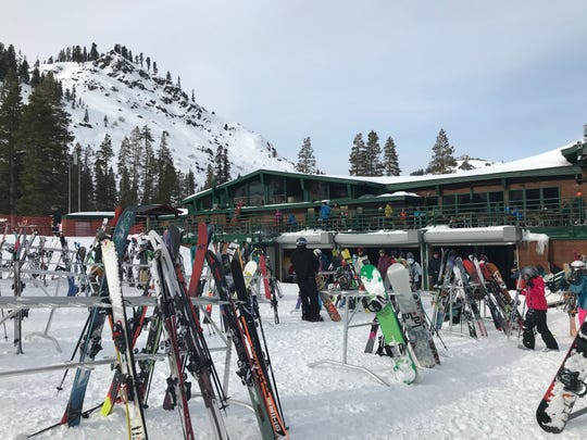 The lodge at Alpine Meadows ski resort on the west side of Lake Tahoe. An avalanche Friday morning killed one skier and seriously injured another.