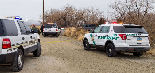 Lyon County deputies respond to a shooting on Cardon Lane in Yeringon.
