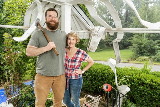 "Ben and Erin Napier are the stars of the HGTV home makeover show, ""Home Town."""