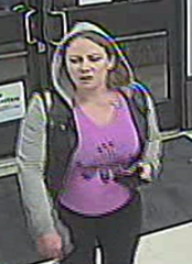 Surveillance footage of Danielle Bisnell.