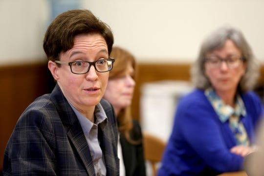 House Speaker Tina Kotek, D-Portland, speaks during the AP Legislative Preview Day at the Oregon State Capitol in Salem on Jan. 17, 2020.