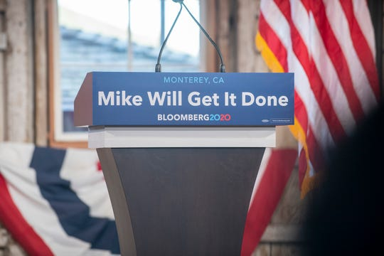 Mike Bloomberg comes to Monterey on Jan. 17, 2020.