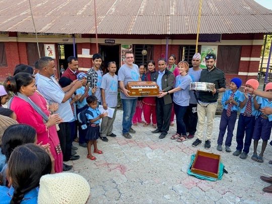 Thanks to a donation from Judy and Stanley Holik of San Angelo, a few schools and a Christian church in Nepal now have musical instruments brought to them through the Terry Mikeska Foundation.