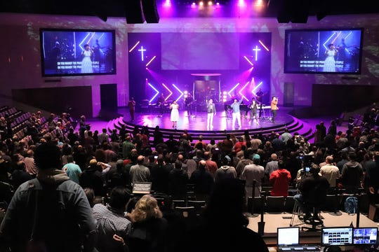 Attendees participate in a worship service during the Mosaix Global Network's Multiethnic Church Conference on Nov. 5, 2019, in Keller, Texas. A decades-long, still burgeoning movement is trying to integrate Christian worship services, aiming to refute the oft-quoted saying by the Rev. Martin Luther King Jr. that Sunday mornings are the most segregated time of the week in the United States.