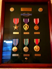 A case, seen here in this contributed photo, holds medals awarded to Gilberto Torres for his service in Europe during World War II.