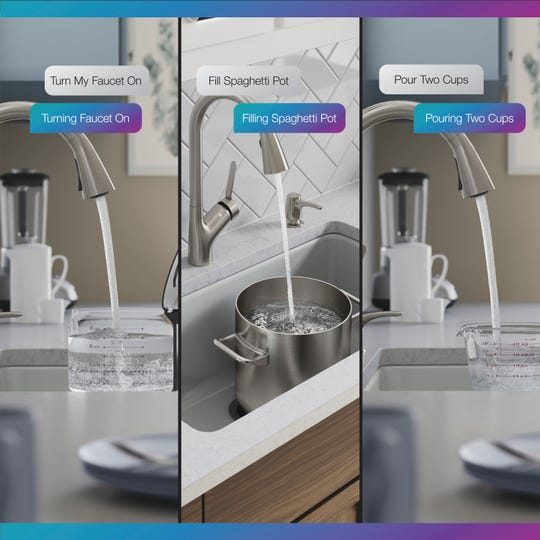 Sensate Touchless kitchen faucet is the only kitchen product in the Kohler Konnect portfolio.