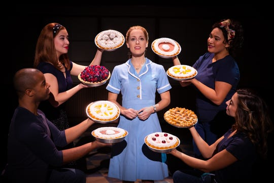 """Bailey McCall as Jenna and company in the national tour of """"Waitress,"""" coming to Hammons Hall for the Performing Arts."""