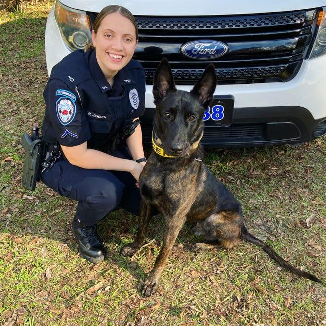 TPD Officer Haley Jensen and her K-9 partner, Kaiko