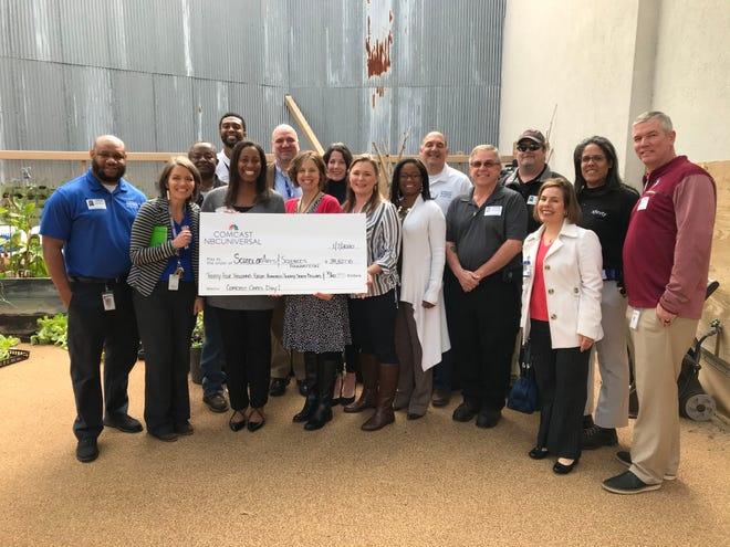 The School of Arts and Sciences Foundation and received $34,000 in support via Comcast Cares Day.
