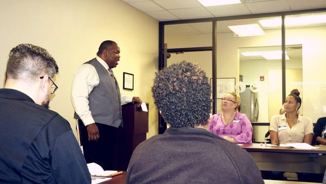 W.C. Blackmon presenting 'Turning your passion into you power' at the City of Tallahassee Demonstration Meeting on Oct. 31, 2019.
