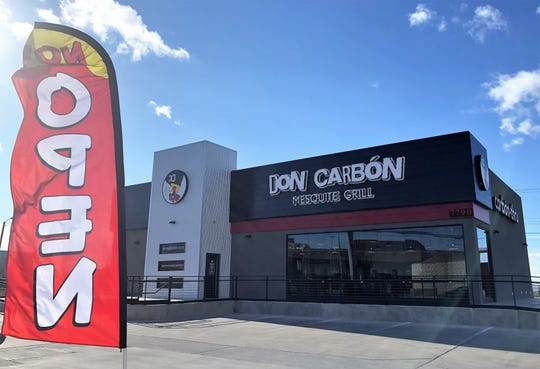 The El Paso-owned Don Carbón Mesquite Grill opened its seventh location at at7790 Gateway East Blvd., and Giles Road in East El Paso.