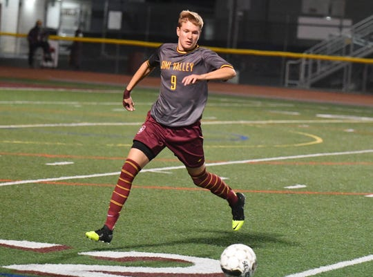 Simi Valley defender Dylan Studer, The Star's reigning All-County Player of the Year, is leading the unbeaten Pioneers towards a section championship run.