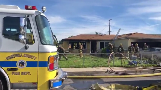 This Jan. 17, 2020, house fire in the 1400 block of North Sixth Street displaced three people in Port Hueneme.