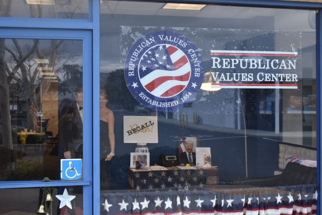 The for-profit Republican Values Center opened in Simi Valley in November. The business offers a  gathering place for conservatives and leases space to vendors ranging from sellers of Trump memorabilia to a political action committee.
