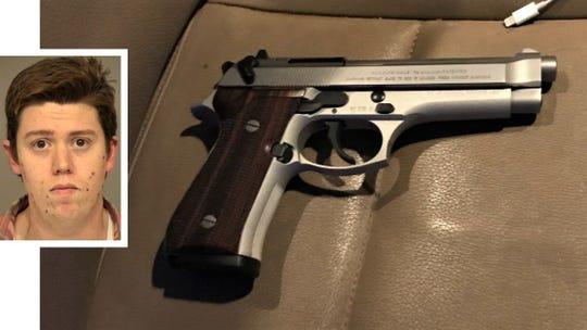 Samuel Sullivan and seized firearm