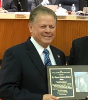 The Vineland Board of Education named retired Vineland Public Schools administrator Dr. Tom McCann the first inductee into the district's Hall of Heroes. Jan. 15,  2020.