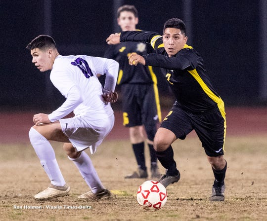 Golden West hosts Lemoore in boys soccer on Wednesday, January 15, 2020.