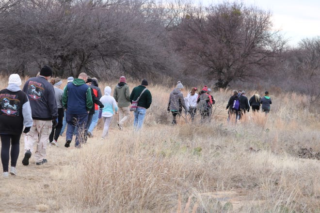 """Nature enthusiasts take part in the """"First Day Hike"""" at Lake Arrowhead State Park. The Texas Master Naturalists plan monthly hikes in 2020, with the next one scheduled Jan. 25. Call 940-867-3006 for more information."""