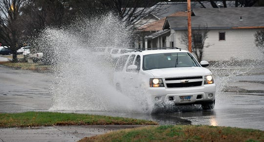 A slow-moving system has dropped more than 2 inches of rain on the Wichita Falls area over a 24-hour period.