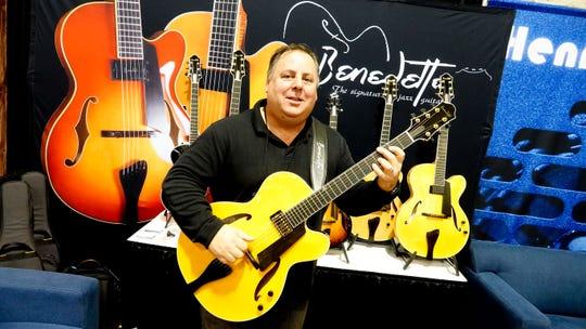 Howard Paul, the CEO of Benedetto Guitars of Savannah, Georgia
