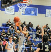 Stamford post Austin Brewer goes for a layup against Haskell on Friday, Jan. 17, 2020, at Stamford High School.