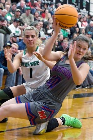 Mountain Heritage hosted Madison in girls basketball in Burnsville on Jan. 17, 2020.