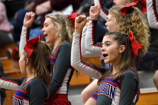 Mountain Heritage took on Madison in boys basketball at Mountain Heritage High School on Jan. 17, 2020.