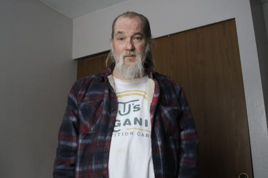 Steve Krumpton camped out in the woods on Bainbridge Island for six years. The 61-year-old now lives with four other men at Kitsap Homes of Compassion place in Central Kitsap.