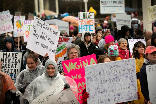 A large crowd turned out for the Women's March in January. Will that enthusiasm translate into votes for Democratic candidates?