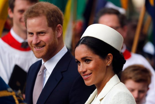 "Prince Harry and Meghan Markle are to no longer use their ""highness"" titles, Buckingham Palace announced Saturday, Jan. 18. 2020."