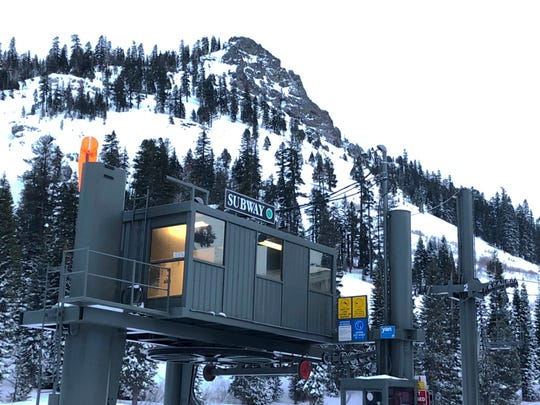 The chairlift at the bottom of the Subway run where one person was killed and another seriously injured in an avalanche at Alpine Meadows Ski Resort on Friday, Jan. 17, 2020.