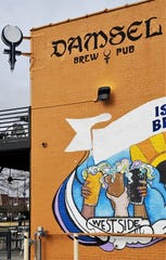 Damsel Brew Pub is located at the corner of Wabash Avenue and West Franklin Streets.
