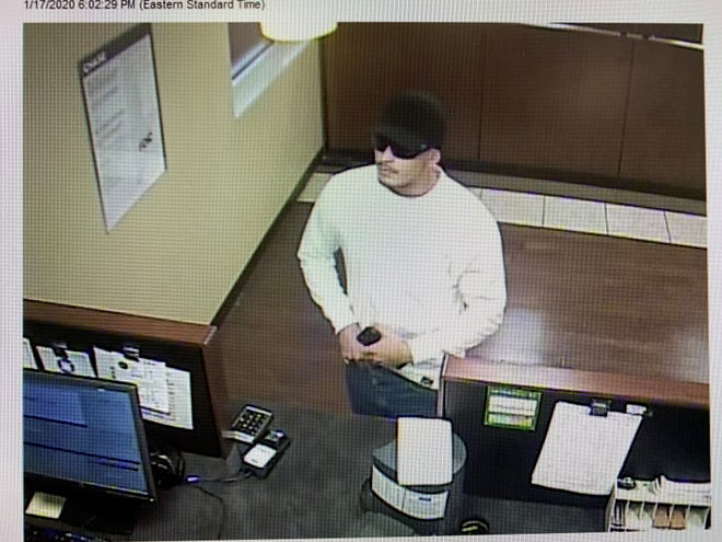 The man shown here robbed Chase Bank off Colonial Boulevard in Fort Myers on Friday, Jan. 17, 2020.