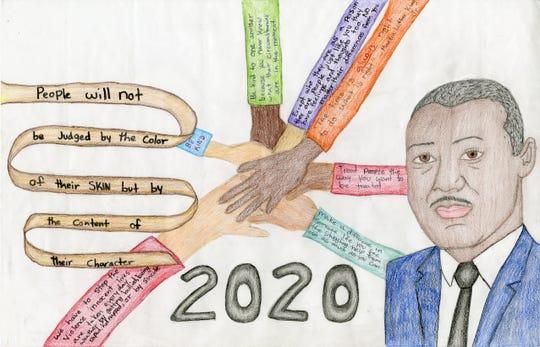 Third place: Adriana Silva Hernandez, Edison Middle School, poster