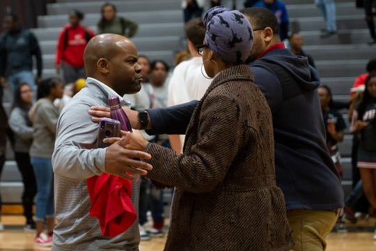 Wade Hampton coach Reggie Choplin after the game against J.L. Mann at Wade Hampton High School Friday, Jan. 17, 2020.