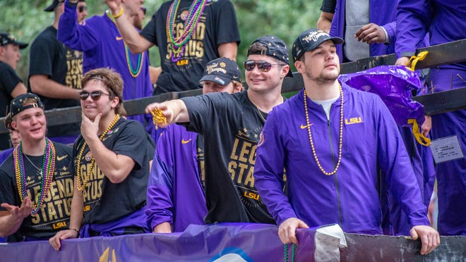 The LSU Football team held a parade and celebration on LSU's campus Saturday, Jan. 18, 2020.