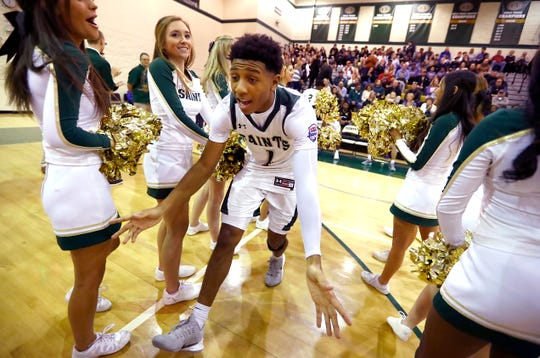 Briarcrest's Kennedy Chandler is introduced before their game against Christian Brothers at Briarcrest Christian School on Friday, Jan. 17, 2020.