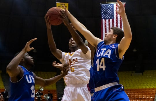 University of Louisiana at Monroe lost to University of Texas at Arlington 78-58 at Fant-Ewing Coliseum in Monroe, La. on Jan. 18.