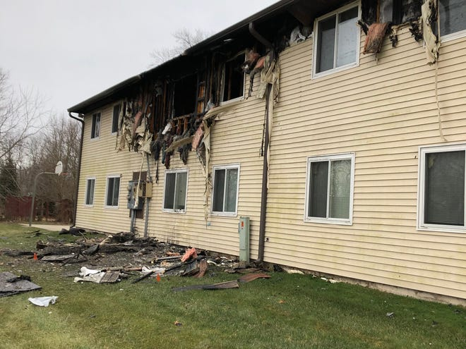 Six families, made up of about 25 people, were displaced from their homes after a fire broke out in a Hartford City apartment building on Friday afternoon.