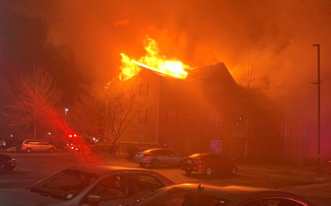 1540 Place Apartments on Lascassas Pike caught fire Jan. 17, 2020.