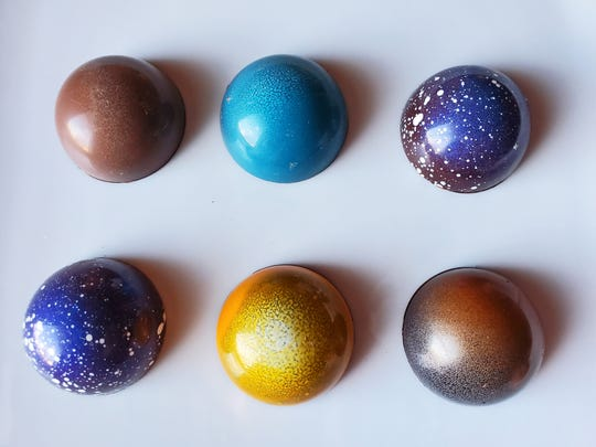 Multicolored bonbons are available at Vesta Chocolate.
