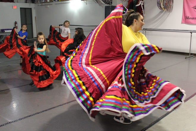 Marissa Cordero teaches traditional Ballet Folklorico dance to students at Michele's Dance Academy.