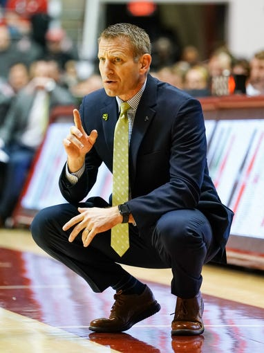 Jan 18, 2020; Tuscaloosa, Alabama, USA;  Alabama Crimson Tide head coach Nate Oats during the game against Missouri Tigers at Coleman Coliseum. Mandatory Credit: Marvin Gentry-USA TODAY Sports
