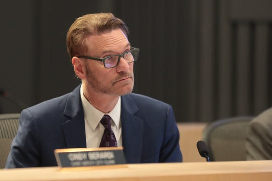 City Manager David Ready attends a Palm Springs City Council meeting, Palm Springs, Calif., April 3, 2019.