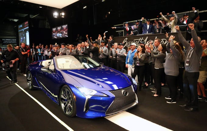 The first 2021 Lexus LC500 Convertible Inspiration Series VIN number 00001 sold for $2 million at Barrett-Jackson on Jan. 17, 2020, in Scottsdale. All of the proceeds will go to support the Boys & Girls Clubs of America and the Bob Woodruff Foundation.