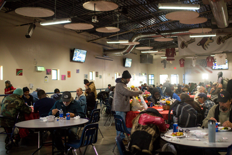 Chinese Restaurant Association feeds homeless at St. Vincent De Paul's